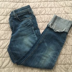 Rag & Bone Cuffed Fray Jean